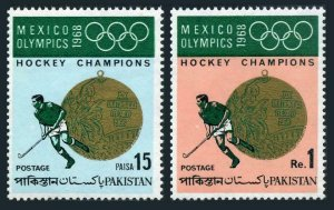 Pakistan 267-268,MNH.Michel 269-270. Olympics Mexico-1968.Hockey Victory Medal.