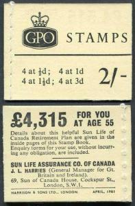 N4 2/- Booklet April 1961 Crowns Ordinary