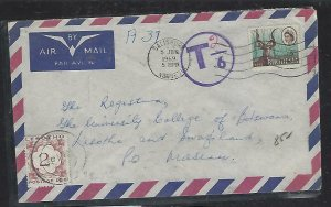LESOTHO (P0511B) 1969 INCOMING COVER FROM RHODESIA POSTAGE DUE 2C TO MASERU