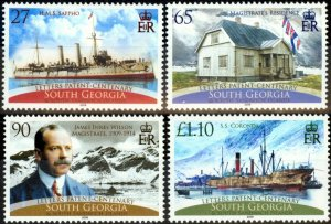 South Georgia 2008 Letters Patent Set of 4 SG458-461 Very Fine MNH