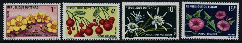 Chad 211-4 MNH Flowers