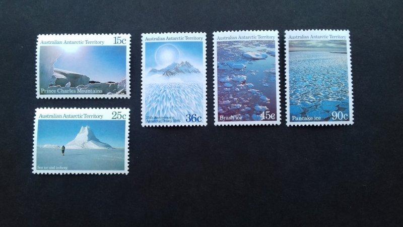 Australian Antarctic 1984 Antarctic Scenes Unused