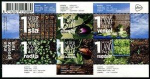 HERRICKSTAMP NEW ISSUES NETHERLANDS Sc.# 1576 Vegetable Garden Sheetlet