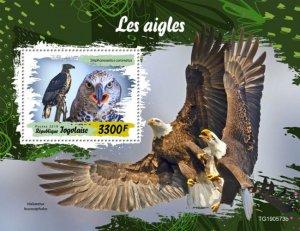 TOGO - 2019 - Birds : Eagles - Perf Souv Sheet - M N H