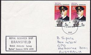 BR ANTARCTIC TERRITORY 1979 ship cover ex HALLEY BAY........................8549