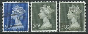 Great Britain - QE II  SG 831 + 830 Decimal Currency