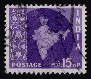 India #310 Map of India; Used (0.25)