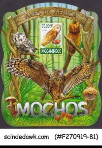 MOZAMBIQUE - 2015 BIRDS OF AFRICA / OWLS - MIN. SHEET MNH