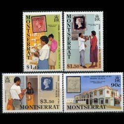 MONTSERRAT 1990 - Scott# 741-4 Penny Black Set of 4 NH