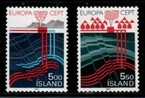 Iceland Scott 573-4 Mint NH (Catalog Value $29.50) EUROPA