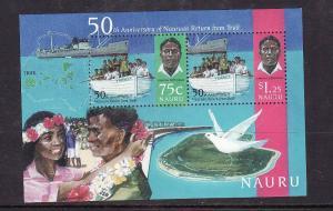 Nauru-Sc#433a-Unused NH sheet-Return from Truk-1996-