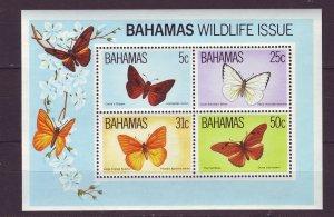 Z722 JLstamps 1983 bahamas s/s mnh #542a butterflies