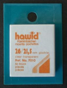 Hawid Stamp Mounts Size 26/22 (21.5) CLEAR Pack of 50