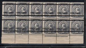 Newfoundland #75 - #76 Mint Fine - Very Fine Never Hinged Plate Block Of 12