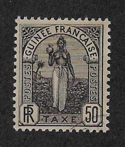 FRENCH GUINEA SC# J5  FVF/U    1905