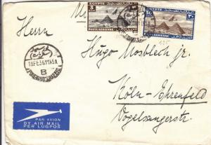 1936, Alexandria, Egypt to Koln, Germany, Airmail (28172)