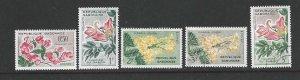 Gabon 154-159  MNH/Used  Short set