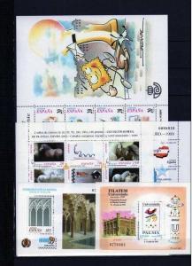 AÑO COMPLETO 1999 NUEVO CON GOMA Y SIN SEÑAL DE FIJASELLOS - MNH LUJO