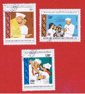 Laos #946-948  VF used  Nehru  Free S/H