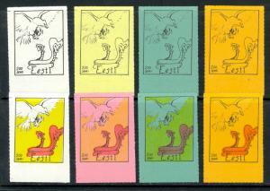 ESTONIA 1975 ANTI SOVIET Proganda Labels Set Progressive Proofs SOVIET SNAKE