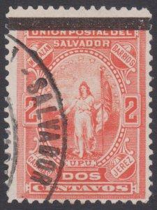 EL SALVADOR 1889 STAMP. SCOTT # 24. USED.