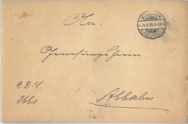 69993 - GERMAN COLONIES: SWA Namibia - POSTAL HISTORY: COVER  from WINDHUK 1906