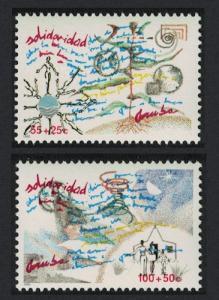 Aruba 'Solidarity' 2v 1990 MNH SG#82-83