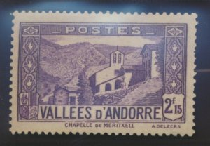 Andorra (French Administration) Stamp Scott #57, Mint Hinged, Hinge Remnant -...