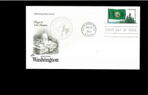 2012 FDC Washington State Flag Sacramento CA