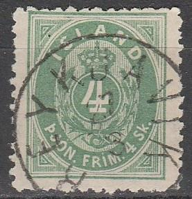 Iceland #O3 F-VF Used CV $525.00 (D3291)