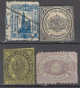 COLLECTION LOT OF #1089 GERMANY 4 PRIVATE POST STAMPS
