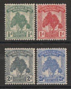 GILBERT & ELLICE ISLANDS 1911 Pandanus Tree set ½d-2½d. MNH **.