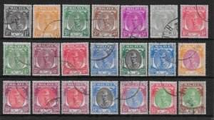 MALAYA KELANTAN SG61/81 1951-5 DEFINITIVE SET USED
