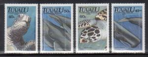 Tuvalu 570-73 Sea Turtles and Whales Mint NH