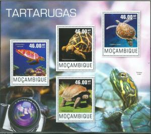 MOZAMBIQUE  2014   TURTLES  SHEET   MINT NH