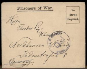German WWI POW UK Britain Camp Queensferry Flint  Cover Censored 91030