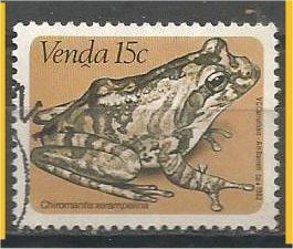 VENDA, 1982, used 15c, Frogs, Scott 97