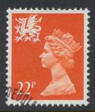 Wales SG W56 SC# WMMH42 Used  with first day cancel 22p Machin