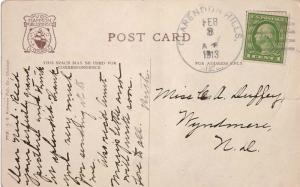 United States Illinois Clarendon Hills 1913 4a-bar  PC  Small tear at right.