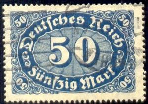 Numeral of Value, Germany stamp SC#198 used