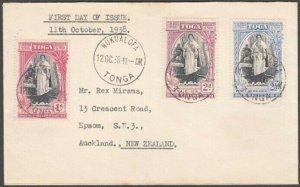 TONGA 1938 20th Anniv set on FDC - Nukualofa cds............................N625
