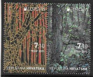 2011   CROATIA  -  SG. 1071 / 1072 -  EUROPA  -  FORESTS  -  MNH