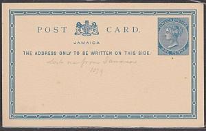 JAMAICA QV 1d postcard unused..............................................54779