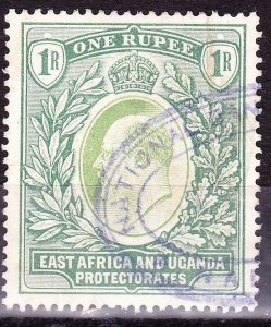 EAST AFRICA & UGANDA 1907 EDVII 1r Green SG26 Fine Used