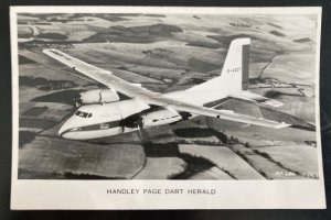 1963 Kensington England RPPC Postcard Cover To Boardway Handley Page Airplane