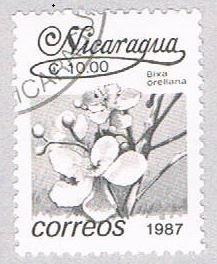 Nicaragua Flower gray 10 - pickastamp (AP109014)