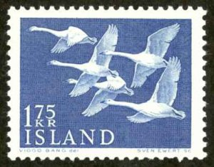 Iceland Sc# 299 MH 1956 Whooper Swans