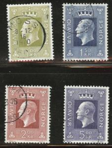 Norway Scott 537-540 used 1970 stamps