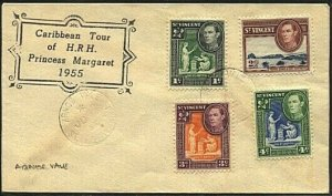 ST VINCENT 1955 cover Visit Princess Margaret - ARNOS VALLEY cds...........19248