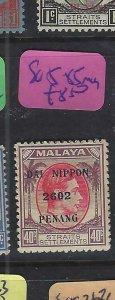 MALAYA JAPANESE OCCUPATION PENANG (P2101B)  KGVI DN  40C    SG J85   MOG